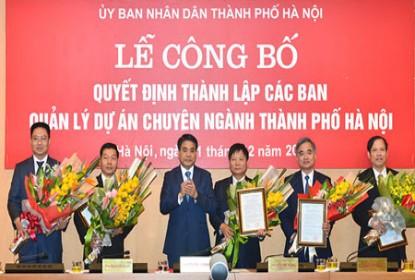 Thành phố Hà Nội thành lập 5 Ban Quản lý dự án chuyên ngành