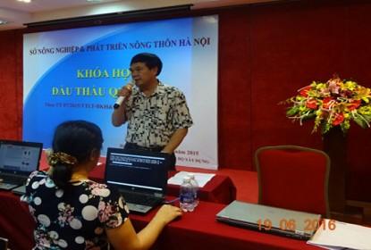 Khai giảng lớp nghiệp vụ  Đấu thầu qua mang tại Hà Nội