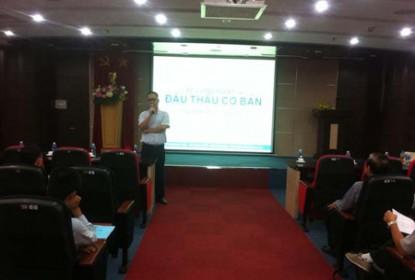 Khai giảng lớp Tập huấn nghiệp vụ  Đấu thầu tại TP Hồ Chí Minh.